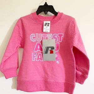 Russell Athletic Girls Pink Sweatshirt size 2t NWT